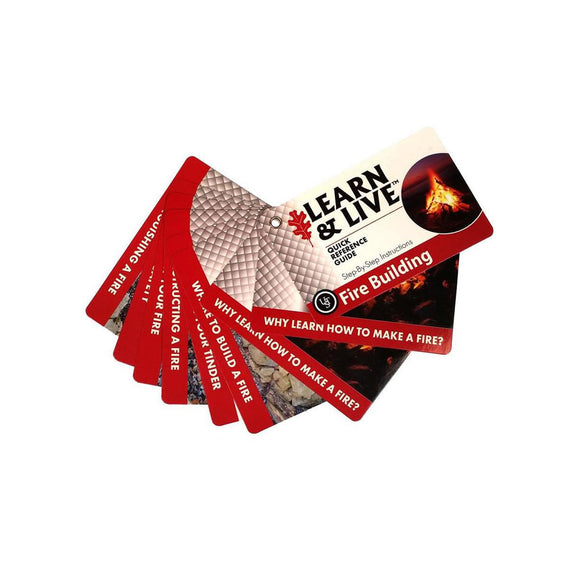 Buy Learn and Live Cards - Fire Starting in Knives & Accessories online at Highball Outfitters - $3.99