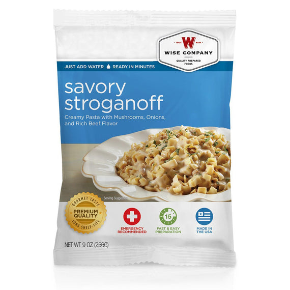 Buy Wise Foods - Entre Dish - Savory Stroganoff, 4 Servings in Food and Food Processing online at Highball Outfitters - $6.99