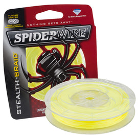 "Buy Spiderwire - Stealth Braid Superline Line Spool - 200 Yards, 0.007"" Diameter, 8 lbs Breaking Strength, Hi-Vis Yellow in Fishing online at Highball Outfitters - $15.99"