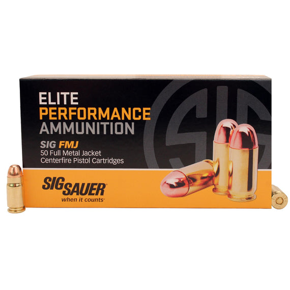 Buy Sig Sauer - Elite Performance Ammunition - 357 Sig, 125 Grains, Full Metal Jacket, Per 50 in Ammunition online at Highball Outfitters - $29.95