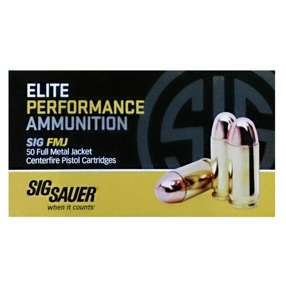 Buy Sig Sauer - Elite Performance Ammunition - 357 Magnum, 125 Grains, Full Metal Jacket, Per 50 in Ammunition online at Highball Outfitters - $26.95