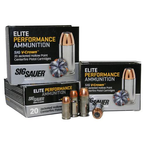 Buy Sig Sauer - Elite V-Crown Ammunition - 44 Magnum, 240 Grains, Jacketed Hollow Point, Per 20 in Ammunition online at Highball Outfitters - $29.95