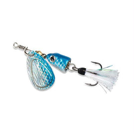 Blue Fox - Vibrax Shallow Spinner - Freshwater, 7-64 oz, 0 Blade Size, Blue Shad, Package of 1