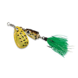 Blue Fox - Vibrax Shallow Spinner - Freshwater, 7-64 oz, 0 Blade Size, Black Chartreuse, Package of 1