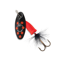 Blue Fox - Vibrax Bullet Fly - 3 Blade Size, 3-8 oz, Black-Fluorescent Red, Package of 1