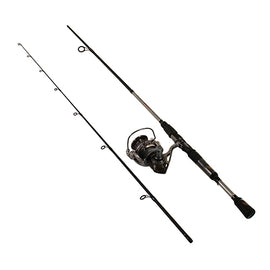 "Zebco - Quantum - Throttle Spinning Combo - 40, 5.3:1 Gear Ratio, 6'6"" Length 2pc, 6-12 lb Line Rate, Md Power, Ambidextrous"