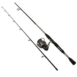 "Zebco - Quantum - Throttle Spinning Combo - 5.3:1 Gear Ratio, 6'6"" Length 2pc, 6-12 lb Line Rate, Fast Action, Ambidextrous"
