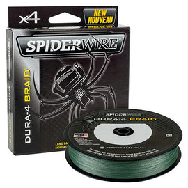 "Spiderwire - Dura-4 Braid Line - 125 Yards, 40 lbs Tested, 0.013"" Diameter, Moss Green"