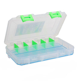 Lure Lock - Large Box - 2 Cavity W- Ocean Blue -clear