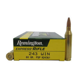 Buy Remington - Corelokt Ammunition - 243 Winchester, 80 Grains, Pointed Soft Point, Per 20 in Ammunition online at Highball Outfitters - $29.99