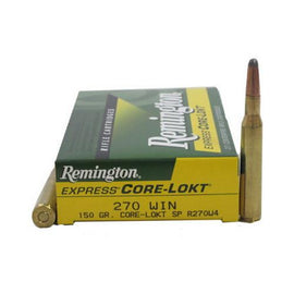 Buy Remington - Corelokt Ammunition - 270 Winchester, 150 Grains, Pointed Soft Point, Per 20 in Ammunition online at Highball Outfitters - $27.99