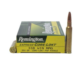 Buy Remington - Corelokt Ammunition - 338 Win Mag, 250 Grains, Pointed Soft Point, Per 20 in Ammunition online at Highball Outfitters - $70.99