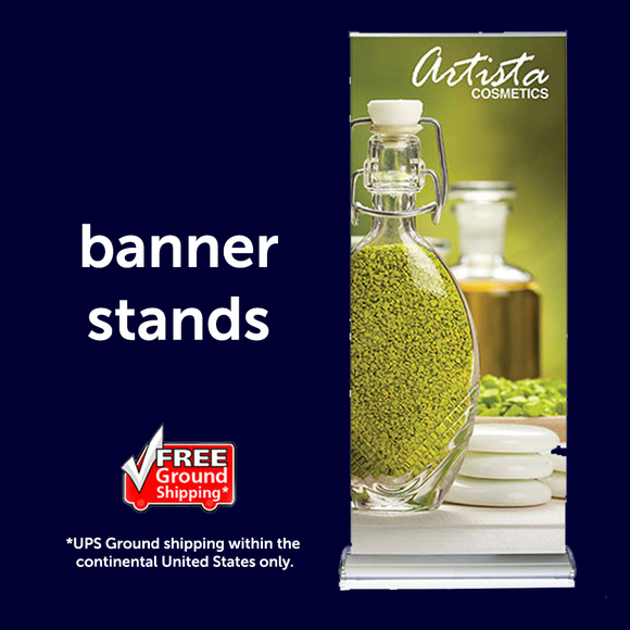 trade show banner stands and graphics