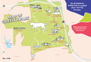 Griffith Park map by Miriam Blier
