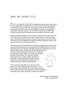 *We Heart P-22: A Coloring + Activity Book Celebrating L.A.'s Famous Mountain Lion