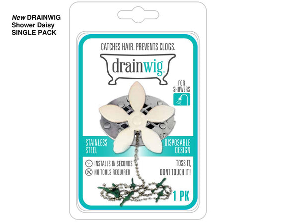 New DrainWig Daisy for Showers-  1 Year's Supply (5) units