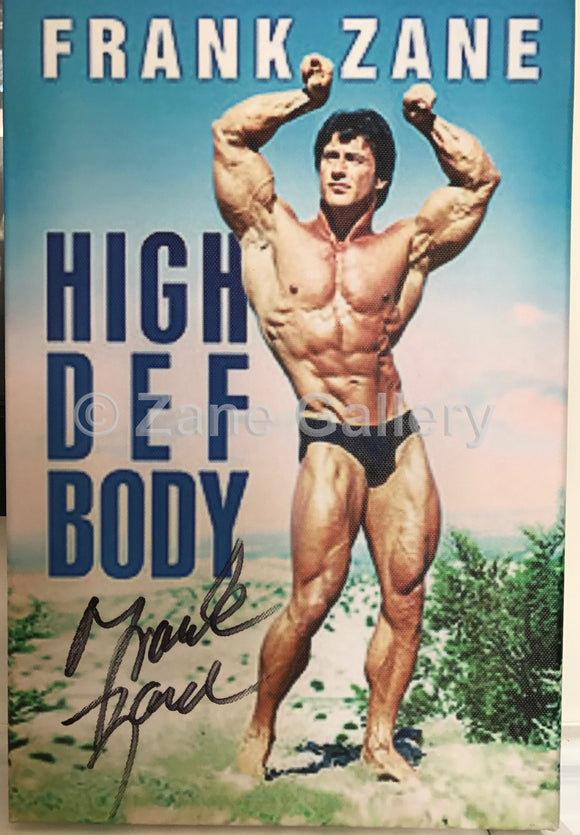 Autographed High Def Body Canvas Print - 12w