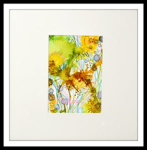 "Christine Zane 14' x 14"" Alcohol Ink Summer Floral"