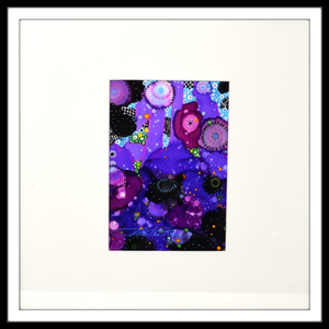 "Christine Zane 14"" x 14"" Alcohol Ink Purple Floral Inspiration"
