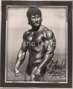 "Autographed Zane Framed Black & White Muscular Print - 9""w X 11""h"