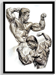 "Larry Scott - Golden Boy Colored Pencil original - 18"" w x 24"" h"