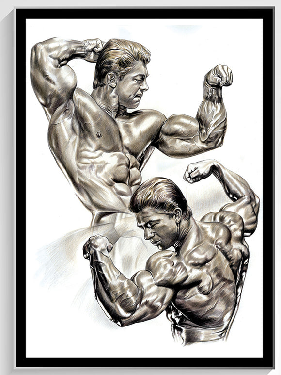 Larry Scott - Golden Boy Colored Pencil original - 18