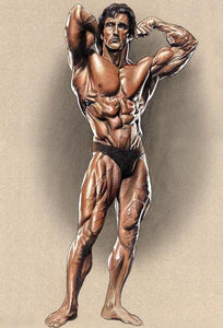 "Zane Colored Poster Print autographed by Frank Zane  - 13"" w x 19"" h"