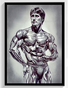 "Zane Muscularity w/Black Frame - 22""w by 32""h"