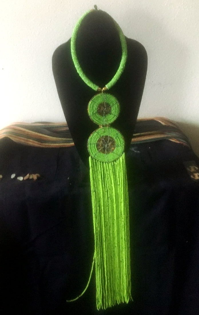 Green African Necklace From Kenya