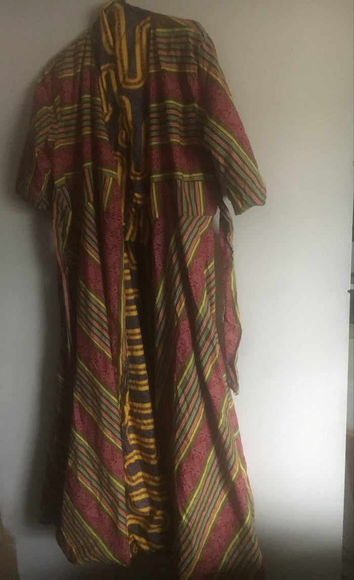 Red and Yellow African Dress