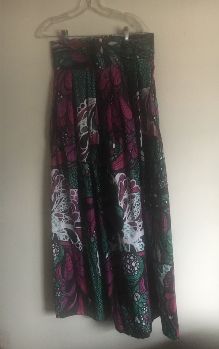 Purple, Black and Green African Dress