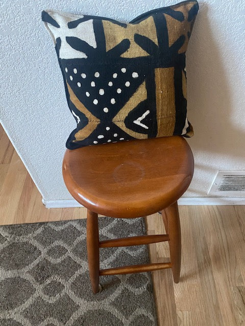 Black Mudcloth Pillow Front
