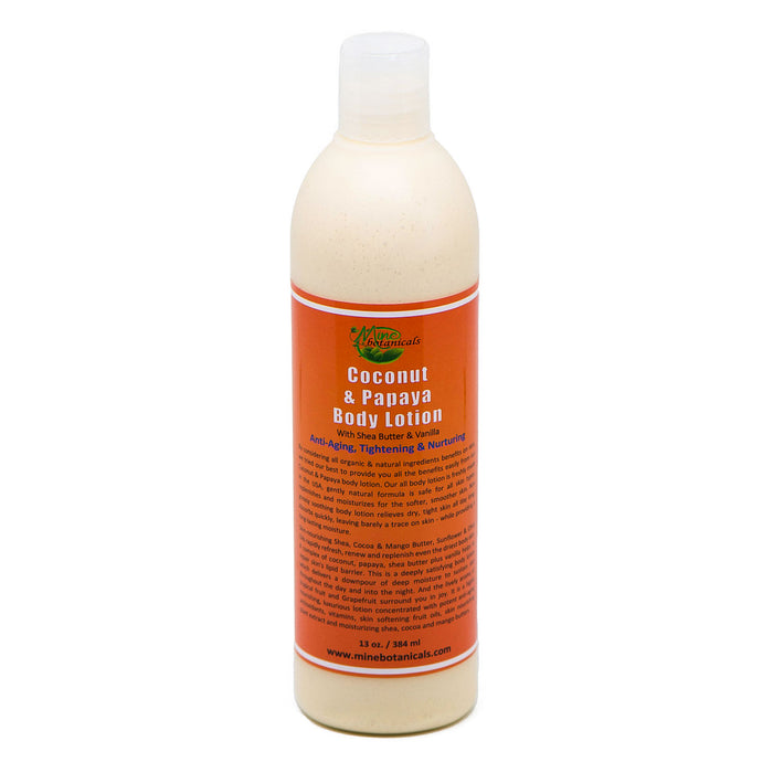 Coconut & Papaya Body Lotion - With Shea Butter & Vanilla