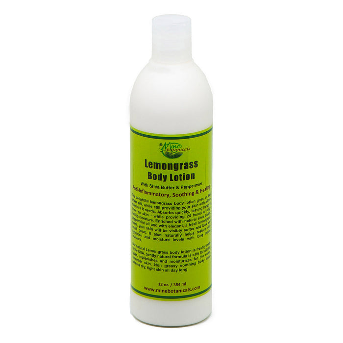 Lemongrass Body Lotion - With Shea Butter & Peppermint