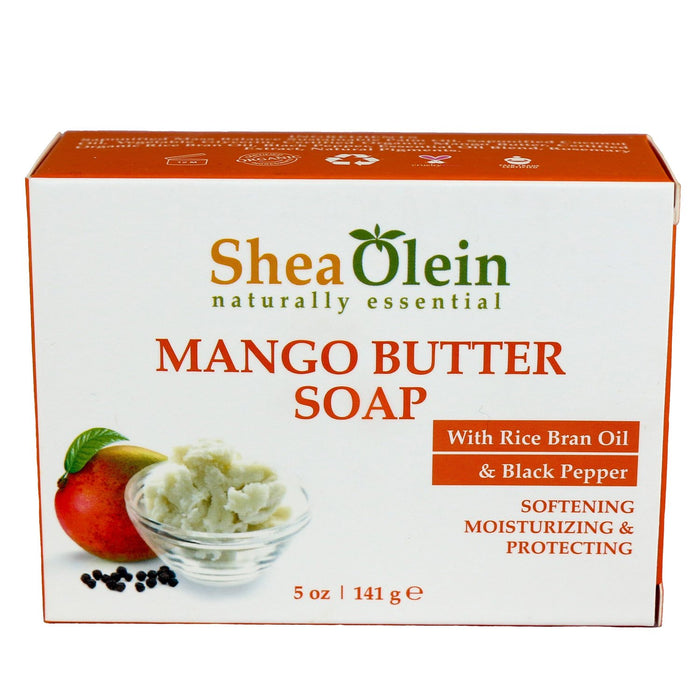 Mango Butter Soap With Rice Bran Oil & Black Pepper