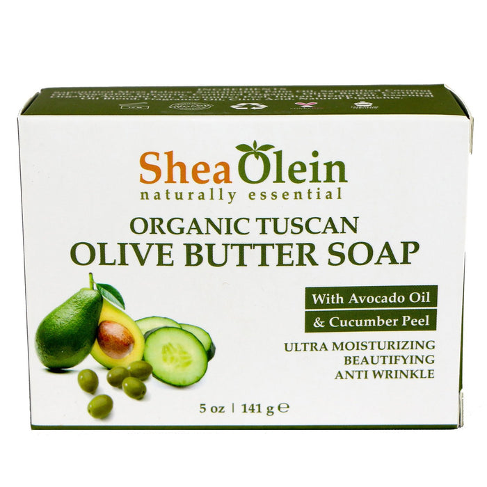 Organic Tuscan Olive Butter Soap With Avocado Oil & Cucumber Peel