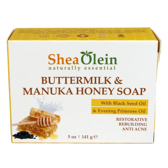 Buttermilk & Manuka Honey Soap with Black Seed Oil & Evening Primrose Oil