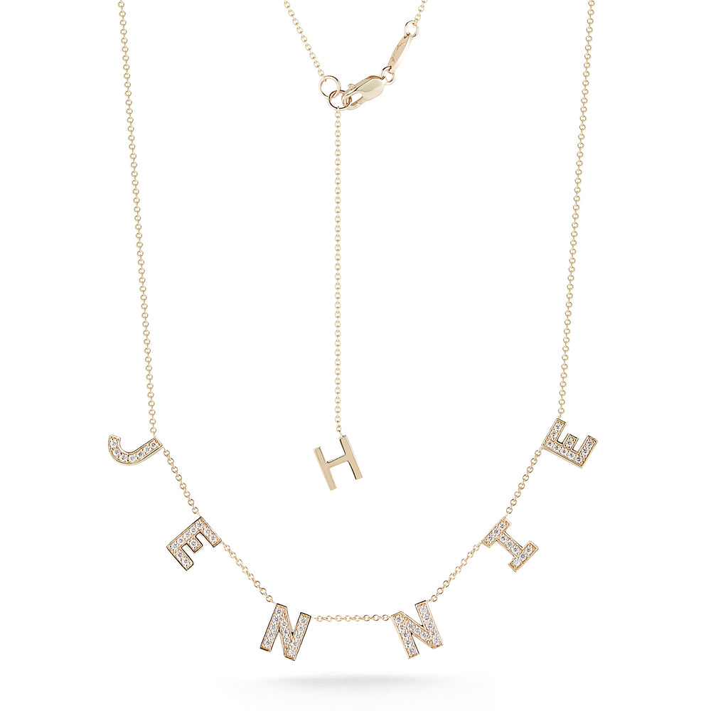 """Custom"" Diamond Multi Initial Necklace- ""Jennie"""