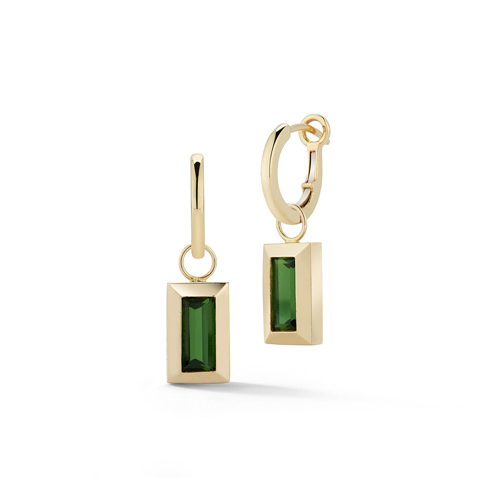 N/S LARGE BAGUETTE CHARM- GREEN TOURMALINE