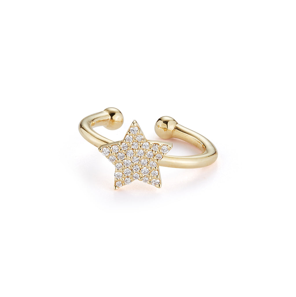 Diamond Pave Star Ear Cuff