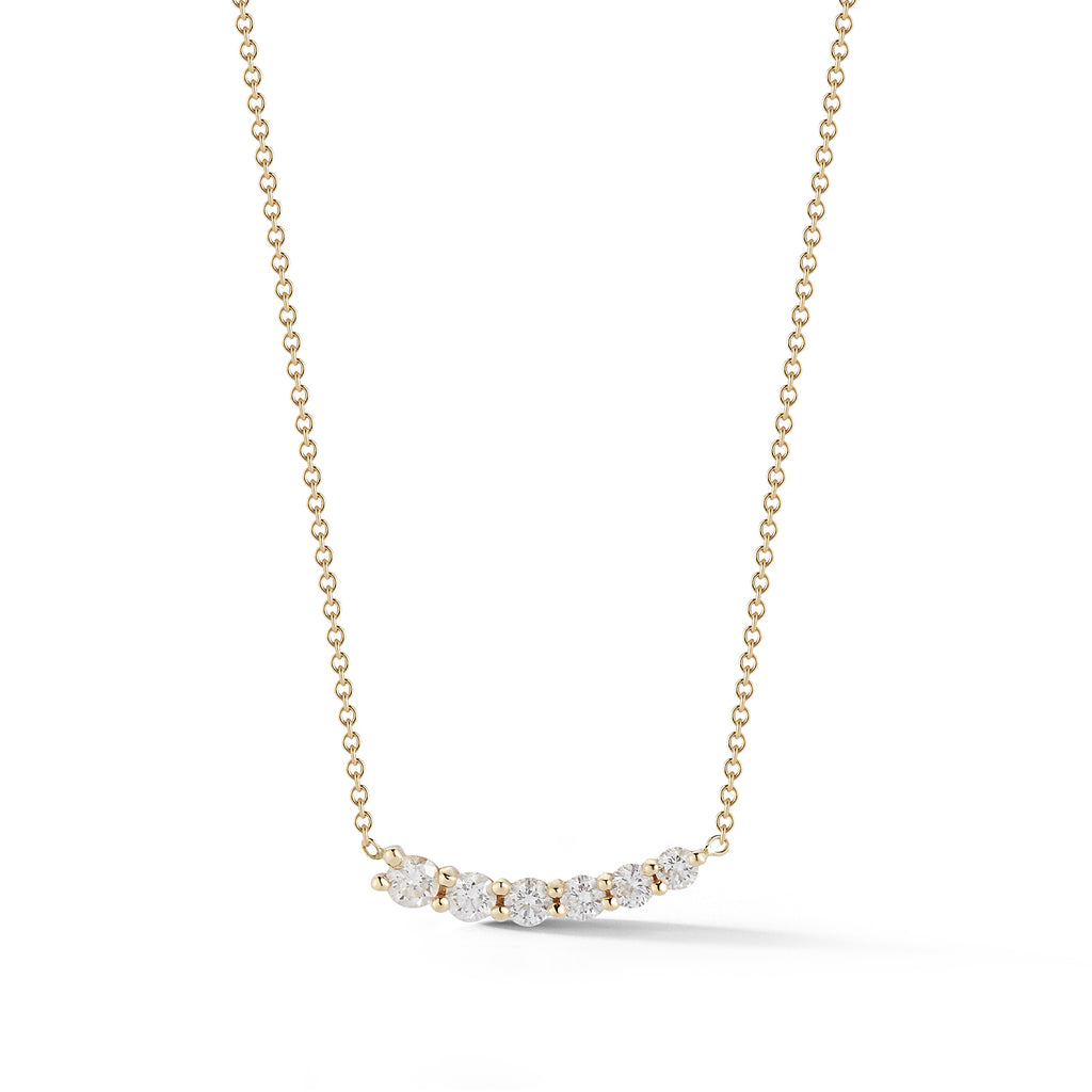 Diamond Curve Necklace E/W