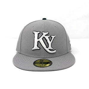 Gray Fitted Hat