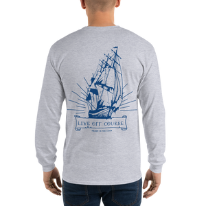 Crooked Ship L/S Navy Blue