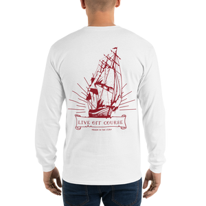 Crooked Ship L/S Maroon