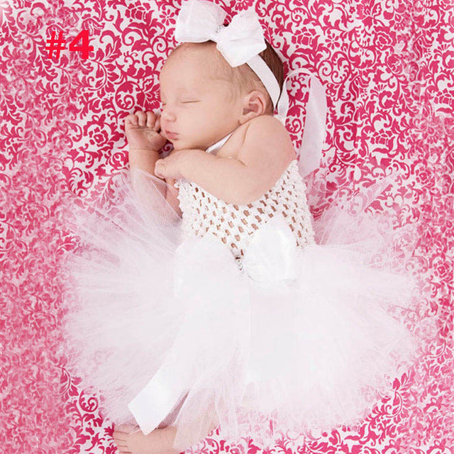 2276be42f4 Toddler Girls Fancy Princess Tutu Dress Holiday Flower Double Layers Fluffy  Baby Dress with Headband Photo Props TS044