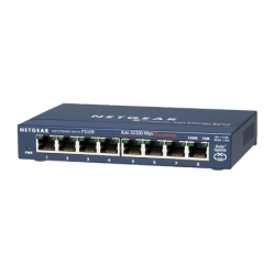 NETGEAR 8-Port 10/100Mbps Auto Speed-Sensing UTP Switch | FS108-300PES