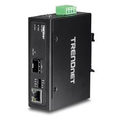 TRENDnet Hardened Industrial 100/1000  Base-T to SFP Media Converter | TI-F11SFP