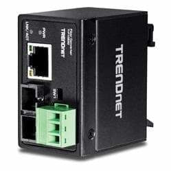 TRENDnet Hardened Industrial 100Base-FX Single-Mode SC Fiber Converter | TI-F10S30