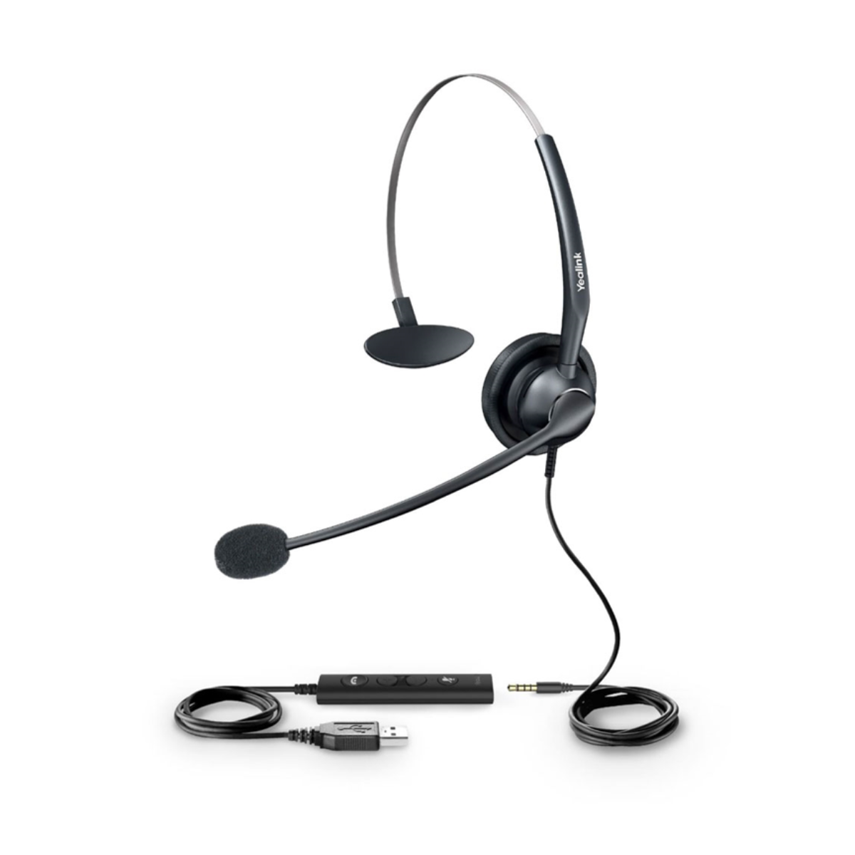 USB and 3.5 mm Monaural noice cancelling headset for Yealink phones | YL-UH33