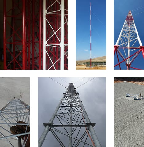 Guyed Lattice Tower or Mast